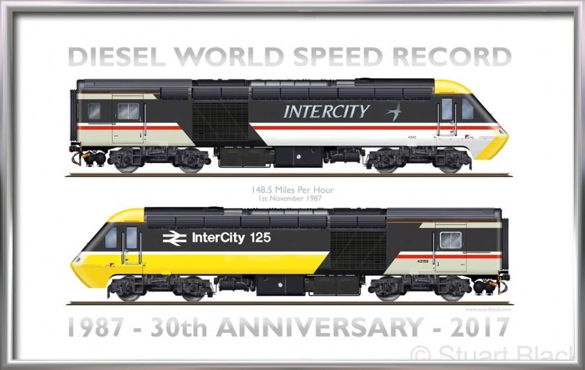 HST Diesel Train World Speed Record – Art Print