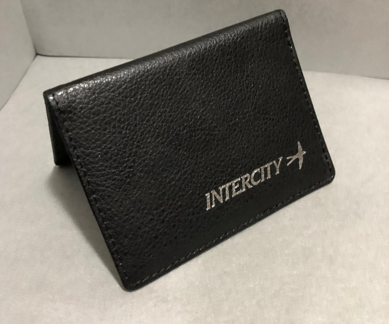Leather Ticket Wallet featuring Swallow Logo