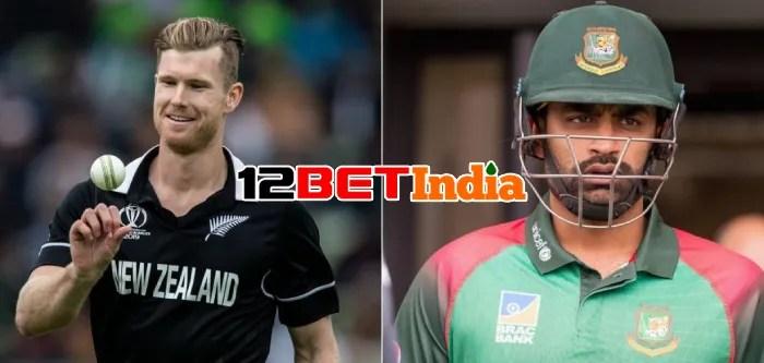 12BET Predictions Bangladesh vs New Zealand first ODI match