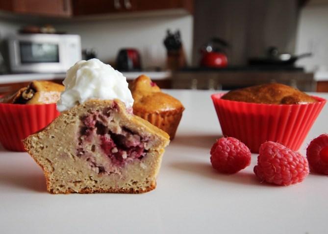 raspberry protein muffin recipe
