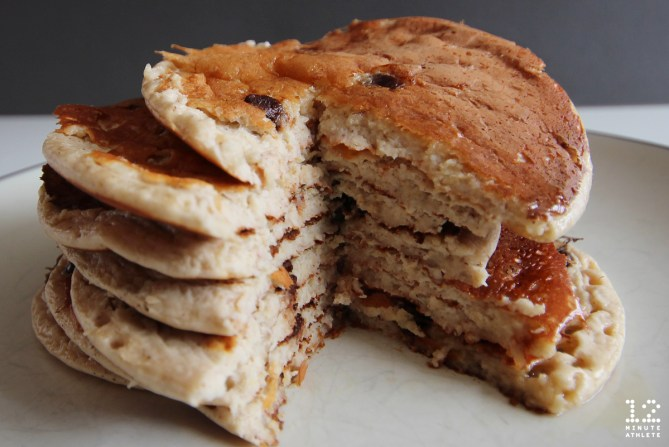 banana chocolate chip protein pancakes