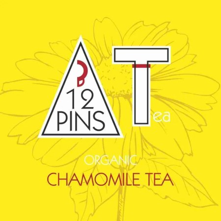 12 Pins loose leaf organic chamomile Tea label