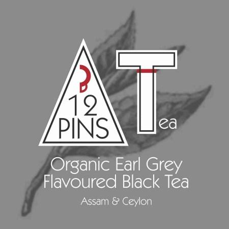 Organic Earl Grey Flavoured Black Tea label