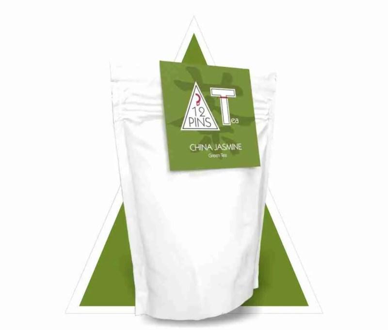 China jasmine green tea pouch
