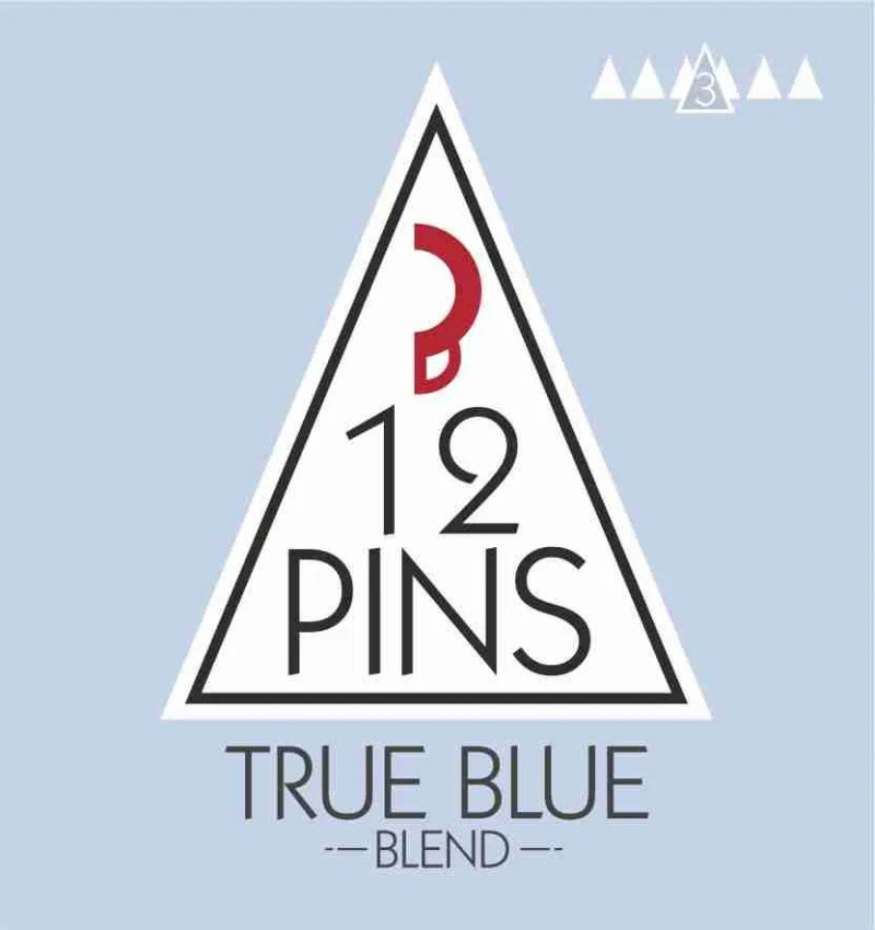 True Blue Coffee Label