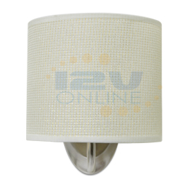 12V LED White Fabric Shade Wall Sconce RV AUTO Boat Porch ... on Led Interior Wall Sconces id=88183