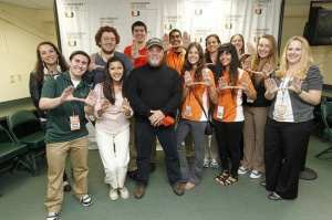 Allison Novack and UM Hurricane Productions crew with the incredible Billy Joel