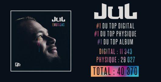 JUL : Numéro 1 du TOP ALBUM avec