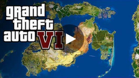 GTA 6 : la map avec toutes celles des anciens GTA