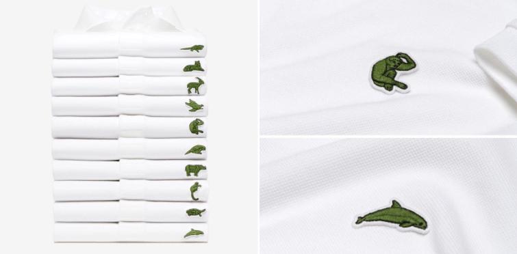 en soldes f172d 1f40e Lacoste modifie son célèbre logo pour sauver les espèces en ...