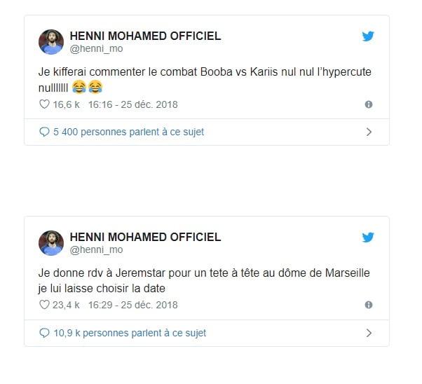 Mohamed Henni provoque Jeremstar pour un face à face au dôme de Marseille