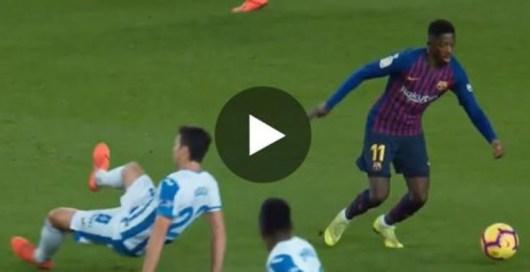Ousmane Dembélé brise les reins de 4 joueurs adverses et maque un but somptueux