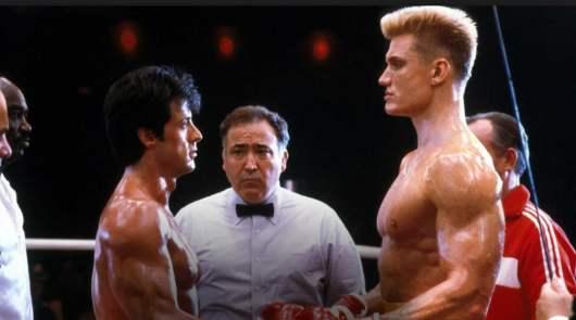 Stallone a failli mourir pendant le tournage de Rocky IV suite aux coups d'Ivan Drago !