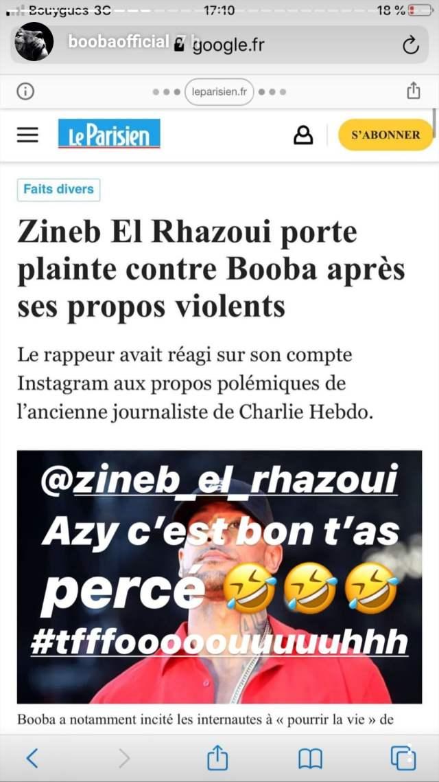 Booba: une ancienne journaliste réagit à ''la menace de mort'' de Booba