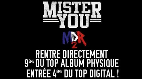 Mister You : MDR 2, entre 9ème au top album et 4ème au top Digital