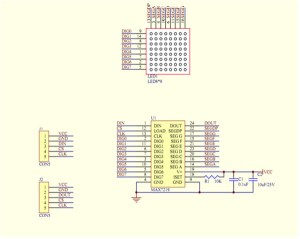 How to wire 8X8 Matrix LED with MAX7219 on Arduino