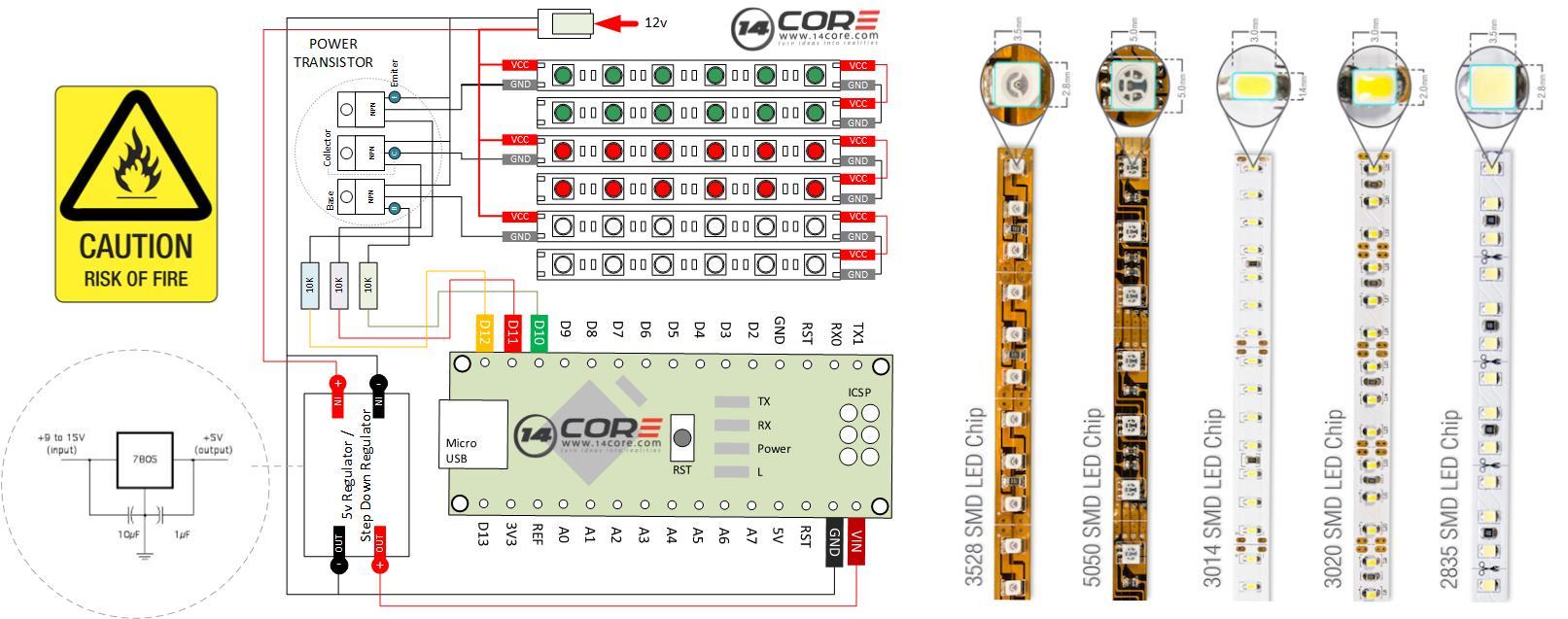 smd led wiring diagram data wiring expertise led light wiring arduino led strip light show centralroots com smd led types wiring smd led wiring diagram