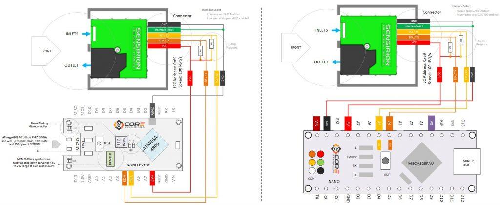 Wiring Senserion Sps30 Pm Optical Sensor With Atmega