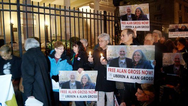 Manifestación para pedir la liberación de Alan Gross