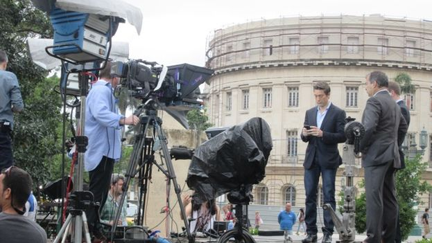 7 Prensa cubriendo la visita de Obama en La Habana. (14ymedio)