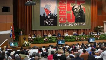 El presidente cubano, Raúl Castro, este martes durante el VII Congreso del Partido Comunista de Cuba. (EFE)