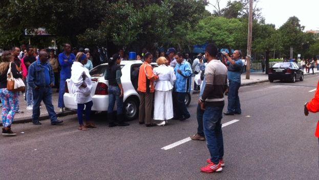 Damas de Blanco detenidas en La Habana.