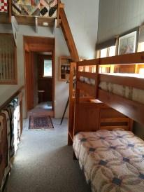 Bunk beds on second floor