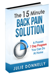 15 Minute Back Pain Solution is an easy-to-read book that shows you how to eliminate back pain by doing simple self-treatments that work