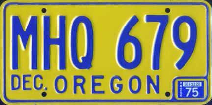 Oregon License Plate Custom Charm