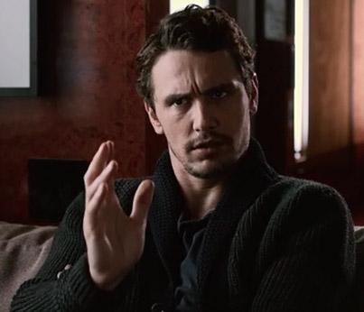 Fig. 8: James Franco dukker også op i Veronica Mars-filmen – i en karaktermorderisk og meget underholdende parodi på sig selv og kendiskulturen.