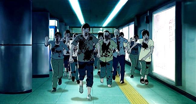 Fig. 4: Et billede af zombierne fra Seoul Station (2016), der er instruktør Yeon Sang-Hos prequel til zombieuniverset i Train to Busan.