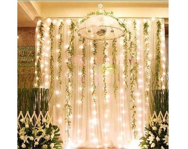 Photocall con cortina de luces