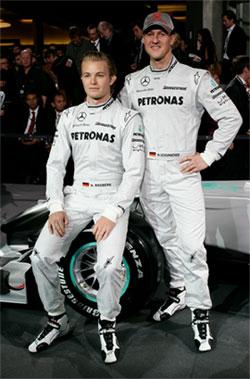 Pilotos Mercedes Gp formula 1