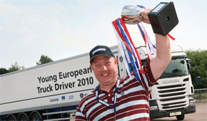 Young European Truck Driver