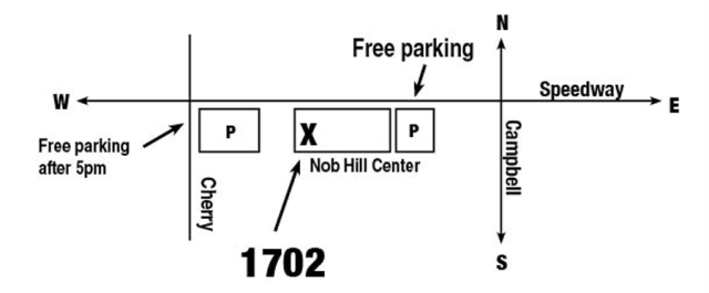 Map of where to park 1702