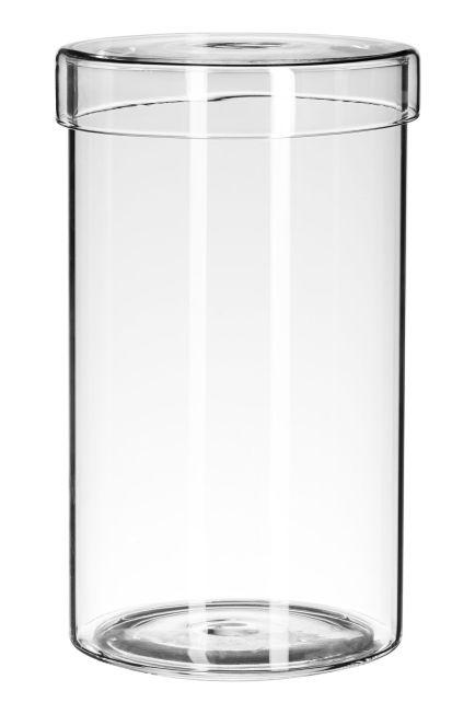 Hohes Glasgefäß mit Deckel 12,99