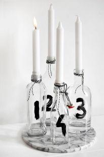 Bild: http://trendenser.se // Kerzenständer aus Flaschen