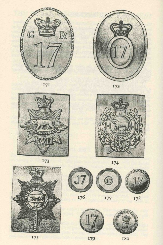 17th Regt belt plates and buttons