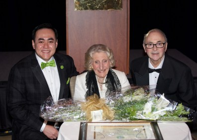 Allen W. Yee (Board Chairman) and Vincent Anthony (The Barbara and Bill Wylly Executive Director) with String Fling 2017 honoree Barbara Wylly