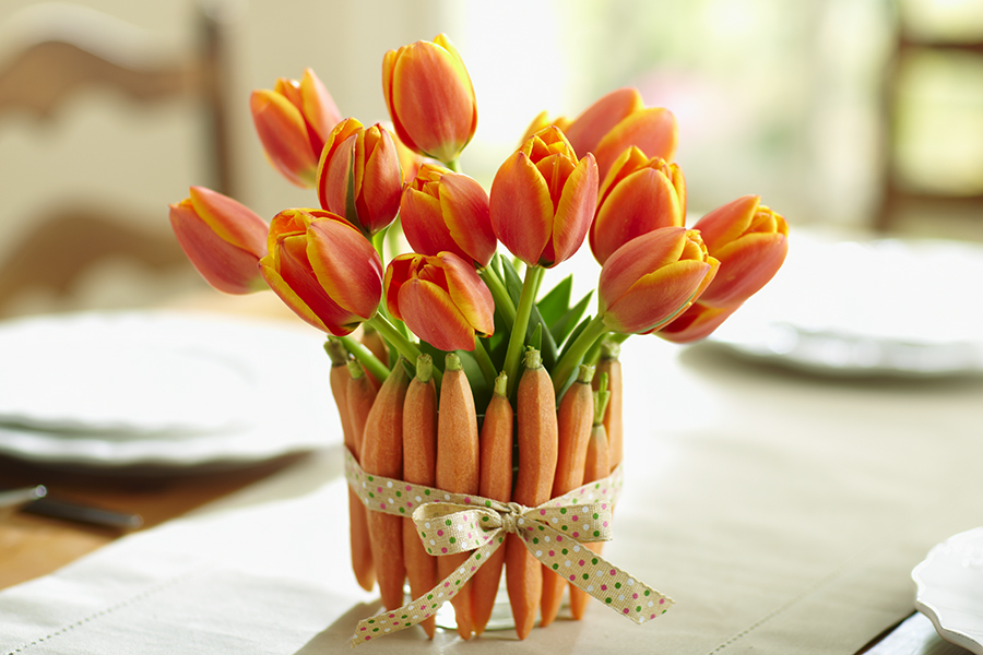 DIY Easter Decorations  Julie s Lifestyle Blog Tulips and Carrots for Easter Decorations