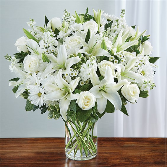 1 800 FLOWERS SINCEREST SORROW ALL WHITE 1 800 Flowers