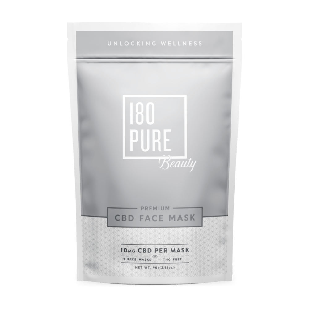 180 pure cbd facial mask in Meadow Green