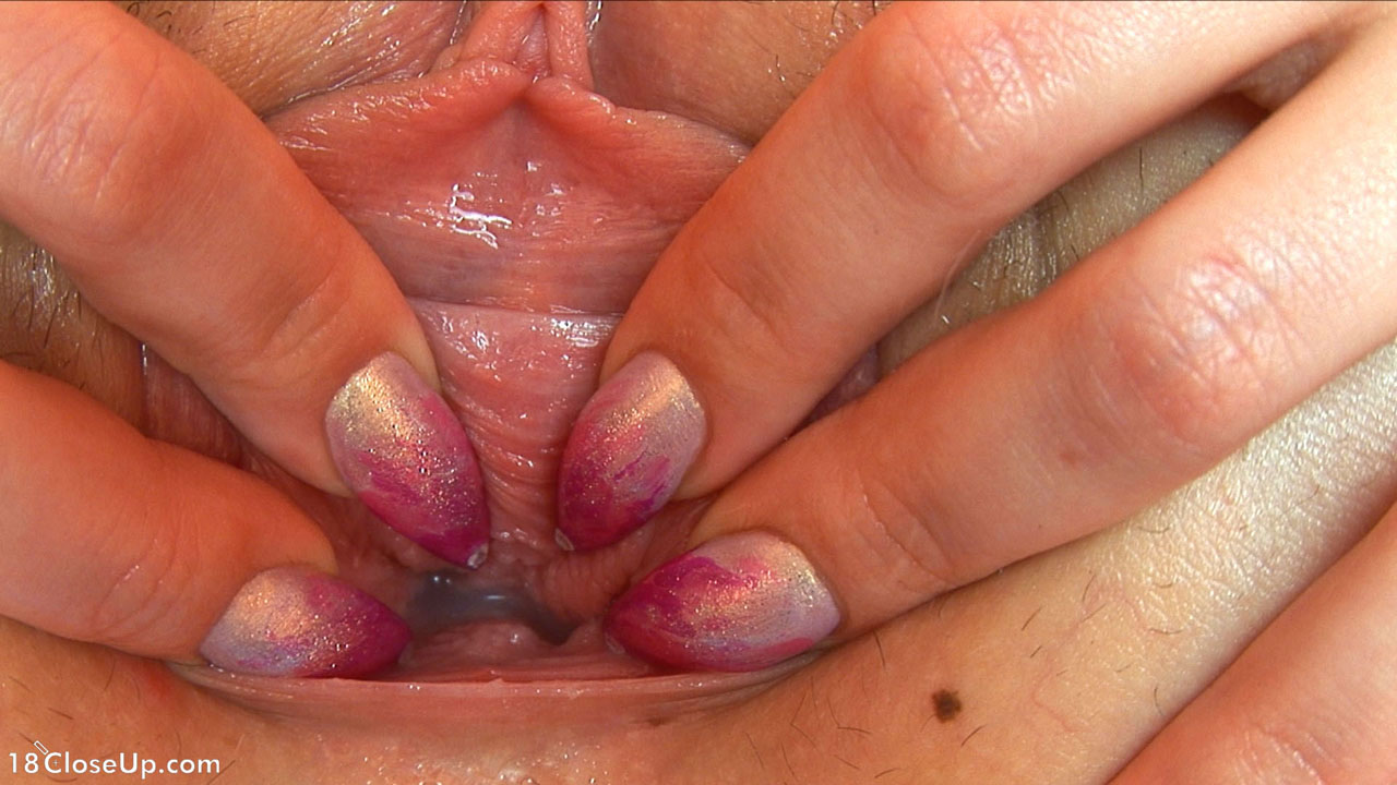 Real wet female orgasm