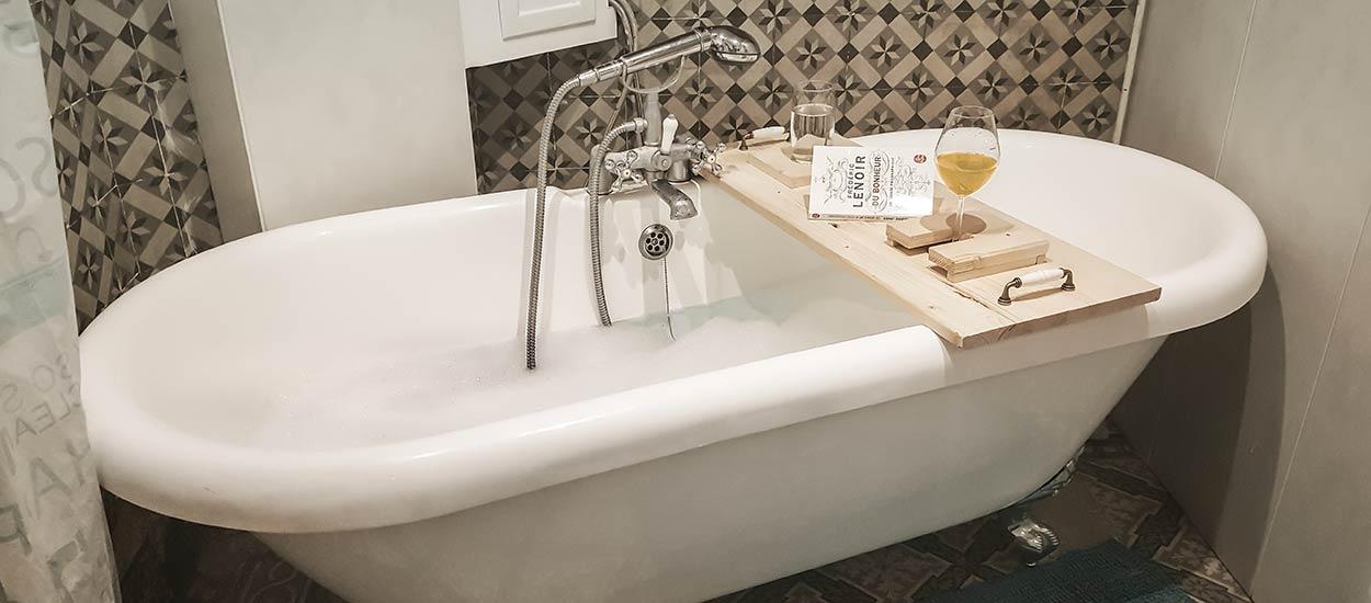 fabriquez un pont de baignoire en bois
