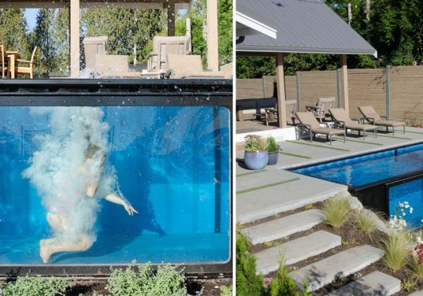 cette piscine hors sol a une paroi