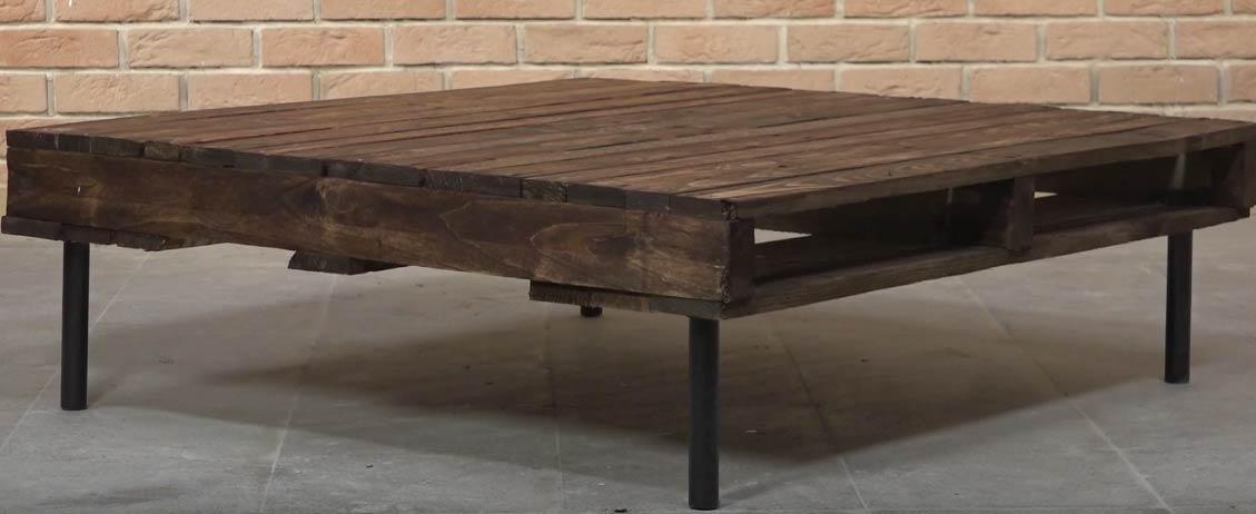 tuto fabriquer une table basse en palette dans un style industriel