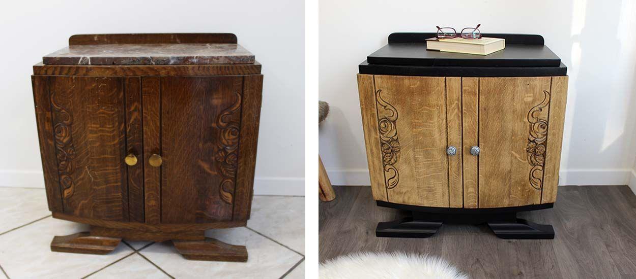 restaurer un vieux meuble de chevet