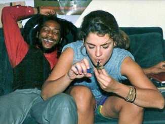 Brooke Shields with a Rasta