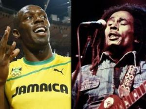 Usain Bolt and Bob Marley