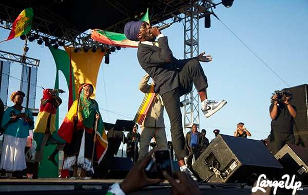 Sizzla performing at Rebel Salute